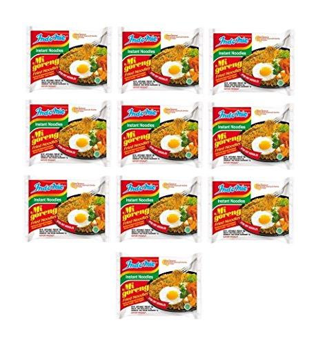 Indomie - Mie Goreng Nudeln - Bratnudel Geschmack - Fertiggericht aus Thailand - 10er Pack (10 x 80g)