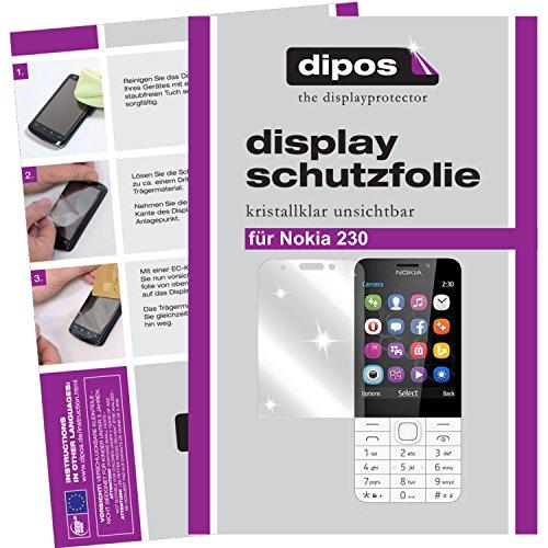 dipos I 6X Schutzfolie klar kompatibel mit Nokia 230 Folie Bildschirmschutzfolie