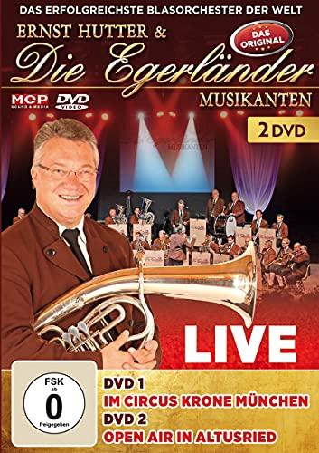 Ernst Hutter & Die Egerländer Musikanten - Live - Im Circus Krone München & Open Air in Altus [2 DVDs]