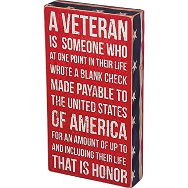 Primitives by Kathy Box Sign, A Veteran