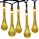Guirlandes Lumineuses D'extérieur, 40 LED 24ft Luminaires Extérieur Imperméable Forme de Goutte d'eau, 8 Modes, Pour Jardin...