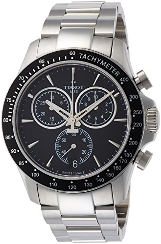 Tissot mens V8 Chrono Quartz Stainless Steel Casual Watch Grey T1064171105100