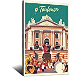 Toulouse Le Capitole Vintage-Reise-Poster, Schlafzimmer,