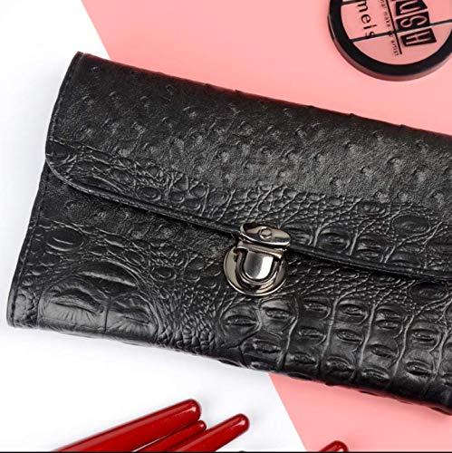 Simmia Boîte de Rangement pour Maquillage avec Compartiments, Design Transparent, Support pour pinceaux de Maquillage, 10 brosses de Maquillage, Sac de Rangement en métal épaississant