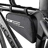 ROCKBROS Bolsa Triangular Cuadro Bicicleta Bolsa de Almacenamiento para MTB Carretera Ciclismo, Negro