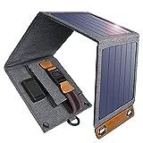 Cargador Solar 14W Impermeable Portátil USB Cargador de Panel Solar al Aire Libre con 4 Paneles Solares Plegables Para Smartphone, Tablet, Camera, Powerbank y Viajes de Camping