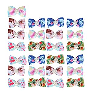 NATRUSS Pet Headwear, Stylish Hand-Made Dog Hair Bow, Dog Hair Clips for Puppy Pet Grooming Cats Pet Decoration