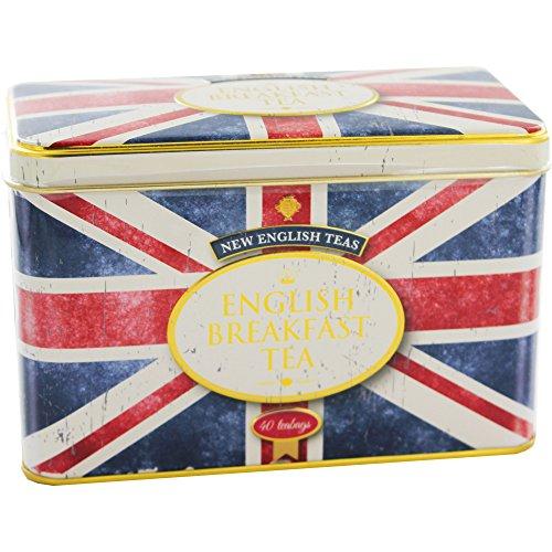 New English Teas - English Breakfast Tea 40 Tea Bags - Union Jack Vintage Tin