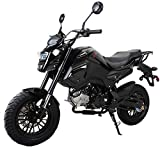 X-PRO 125cc Vader Adult Motorcycle Gas Motorcycle Dirt Motorcycle Street Bike Motorcycle Bike,Assembled In Crate! (Black)