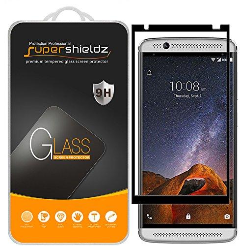 (2 Pack) Supershieldz for ZTE (Axon 7 Mini) Tempered Glass Screen Protector, (Full Screen Coverage) Anti Scratch, Bubble Free (Black)