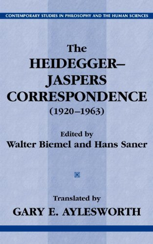 The Heidegger-Jaspers Correspondence (1920-1963) (Contemporary Studies in Philosophy and the Human Sciences.) (English Edition)