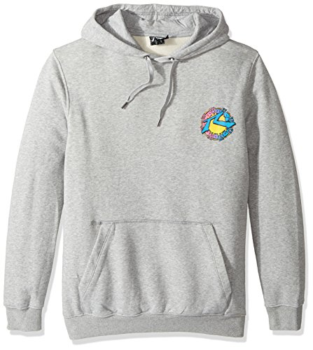 Rusty Men's Original Logo Fleece Hoodie Traditional Fit Sweatshirt, Mayan Grey Marle, Large