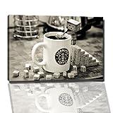 Starbucks Tasse Bild auf Leinwand -- 80 x 60 cm fertig