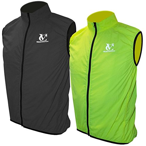 VeloChampion Chaleco para Ciclismo Primavera/Otono/Invierno Element Defence Gilet (Fluoro Yellow, Small)