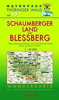 Naturpark Thüringer Wald 17. Schaumberger Land und Bleßberg 1 : 30 000 Wanderkarte: Mit Schalkau, Mengersgereuth-Hämmern, Effelder-Rauenstein, ... Steinheid. Mit Skiloipen und Radrouten
