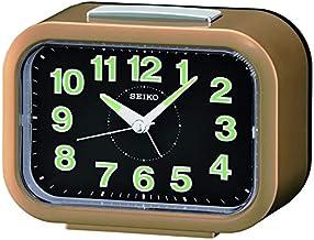 Seiko Quartz Alarm Clock, Multicolour, 9.6 x 13 x 6.5 cm