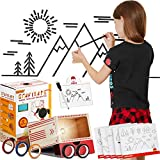 kipod Toys GrafiTape - Wooden Drawing Projector for Kids - Create Unique Arts and Crafts - Draw, Project and Trace – Best Gift for Girls and Boys Ages 6 7 8 9 10