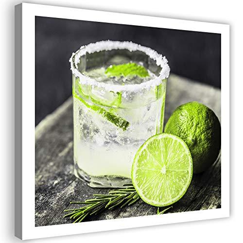 Photo sur Toile Citron vert Boisson Glace Tableau Giclée Cuisine vert 40x40 cm