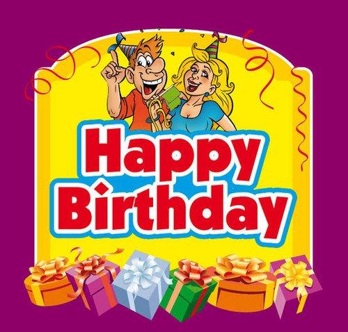 Aufkleber Happy Birthday Etikett Sektflasche Flasche selbstklebend Geburtstag