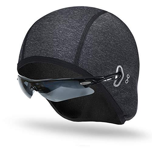 JTENG - Berretto Sottocasco Berretto invernale da bicicletta, per sport all'aria aperta, caldo e antivento, in pile, leggero, per ciclismo, corsa
