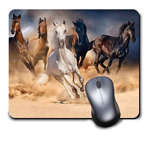 Computer Gaming Mouse Pad Mat for Office and Home Laptop Desktop Mousepad(9.6 x 8 inch) - Wild Horses