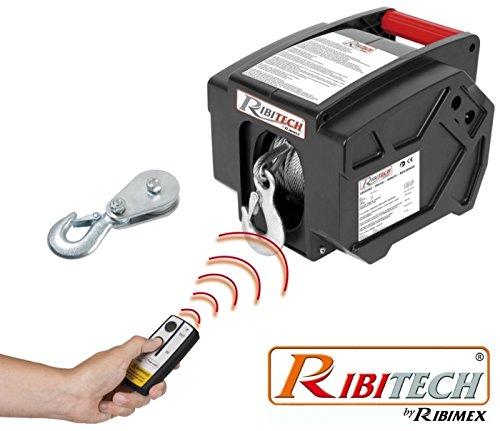 Verricello/Argano/Paranco elettrico 12V 2000 lbs con telecomando wireless Ribitech - PE12V/T