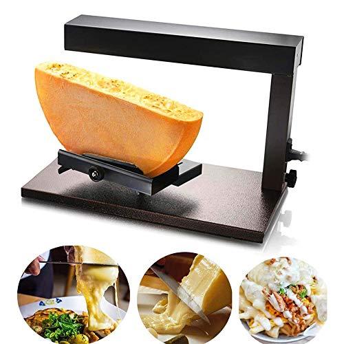 MaquiGra Fundidor Fusor de Queso Antiadherente Raclette de Queso Cheese Melter Uso Comercial Temperatura Ajustable para Preparar Comidas de Papas, Hamburguesas, Nachos, pastas (1 parilla)