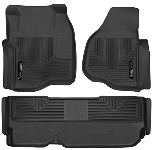 Husky Liners 53301-53421 - X-Act Contour - First and Second Rows All Weather Custom Fit Floor Liners for 2011-2016 Ford F-250/F-350/F-450 Super Duty SuperCab