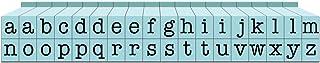 مجموعة طوابع أبجدية صغيرة الحجم من 36 قطعة من شركة الاتصال يو إس إيه، باللون الأزرق الداكن