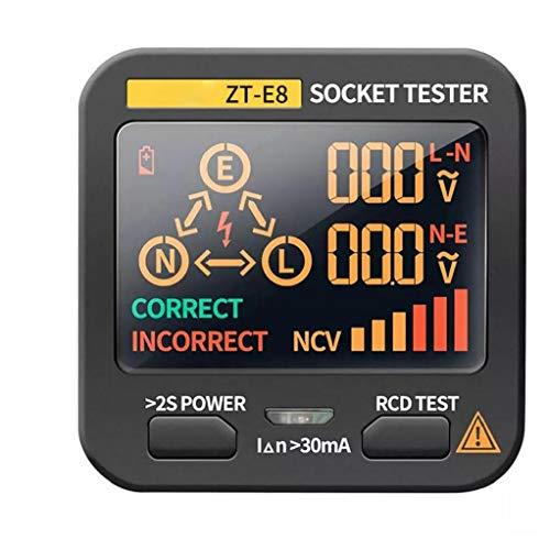 Fivesix Socket probador Digital de Voltaje Integrado Detector LCD Socket Inspector Analizador de Circuito Eléctrico Línea del Inspector de Fallos, aparatos industriales