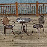 Mesa y silla de aluminio fundido para exteriores, combinación de mesa y silla para balcón, mesa y silla de ocio, muebles de jardín, mesa y silla de comedor para balcón, muebles de terraza,