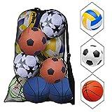 NATUCE Sacca in Rete per palloni da Calcio per 10-15 Palline Grande Palline Heavy Duty Net...