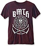 Bring Me The Horizon 'Crooked Young (Navy/Red)' Burnout T-Shirt (large)