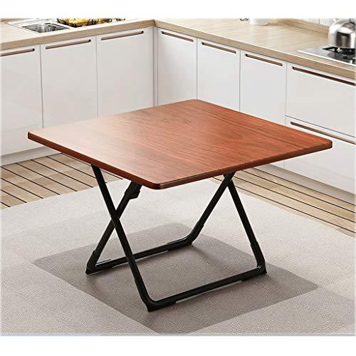 Place Portable Folding Table, Table de pique-nique extérieur, Garden Party Table Side, 80 * 80 * 73cm (Color : Red mahogany)