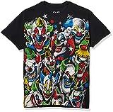 Liquid Blue Men's Plus-Size Colored Clowns T-Shirt, Black, XX-Large
