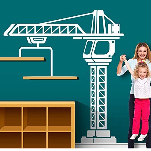 Kyzaa Bau Kran Wand Aufkleber Spielzimmer Kinderzimmer Große Bau Lkw Verkehr Kran Wand Aufkleber Boy Zimmer Vinyl Home Decor