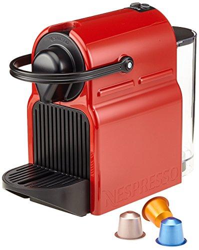 Nespresso Inissia Krups XN100510, Cafetera de Cápsulas, Rojo