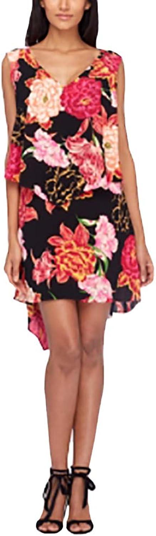 Tahari ASL Tiered FloralPrint Shift Dress