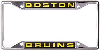 'WinCraft Snack Schale NHL Boston Bruins Metall Nummernschild Rahmen eingelegten Acryl
