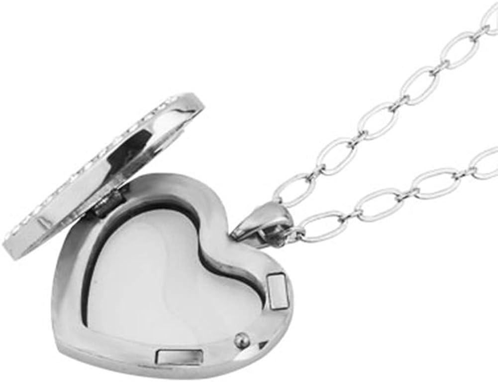 Jesse Ortega Heart Love Locket Glass Living Memory Pendant Necklace fit Floating Charms