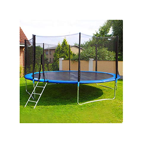 CCOOfhhc Kids Trampoline with Enclosure Net Spring Cover Padding,Outdoor Trampoline Exercise Fitness Jumping Mat-US Stock