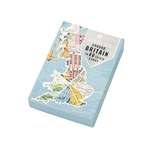 Talking Tables Game-World-Brit Sage du Monde Bretagne Trivia 80 Cartes, Papier, Multicolore, 0,03 x 0,09 x 0,12 cm