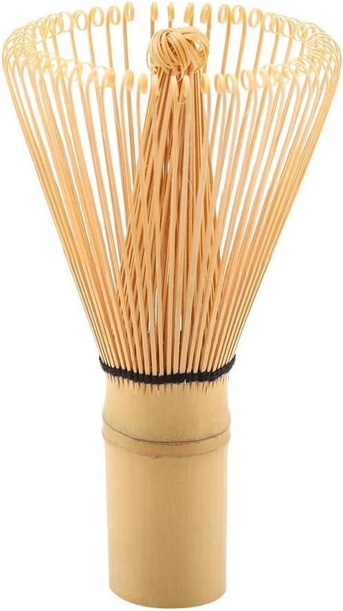 54 Prongs Fouet /à th/é Delaman Naturel Bambou Th/é Fouet Chasen Pr/éparation Matcha Poudre Brosse Outil 1 PC