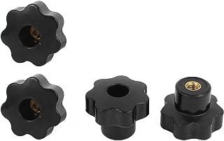 M8x32mm Hembra Rosca Pl/ástico Star Cabeza Fijaci/ón Pomo Plantilla Negro 12 Piezas