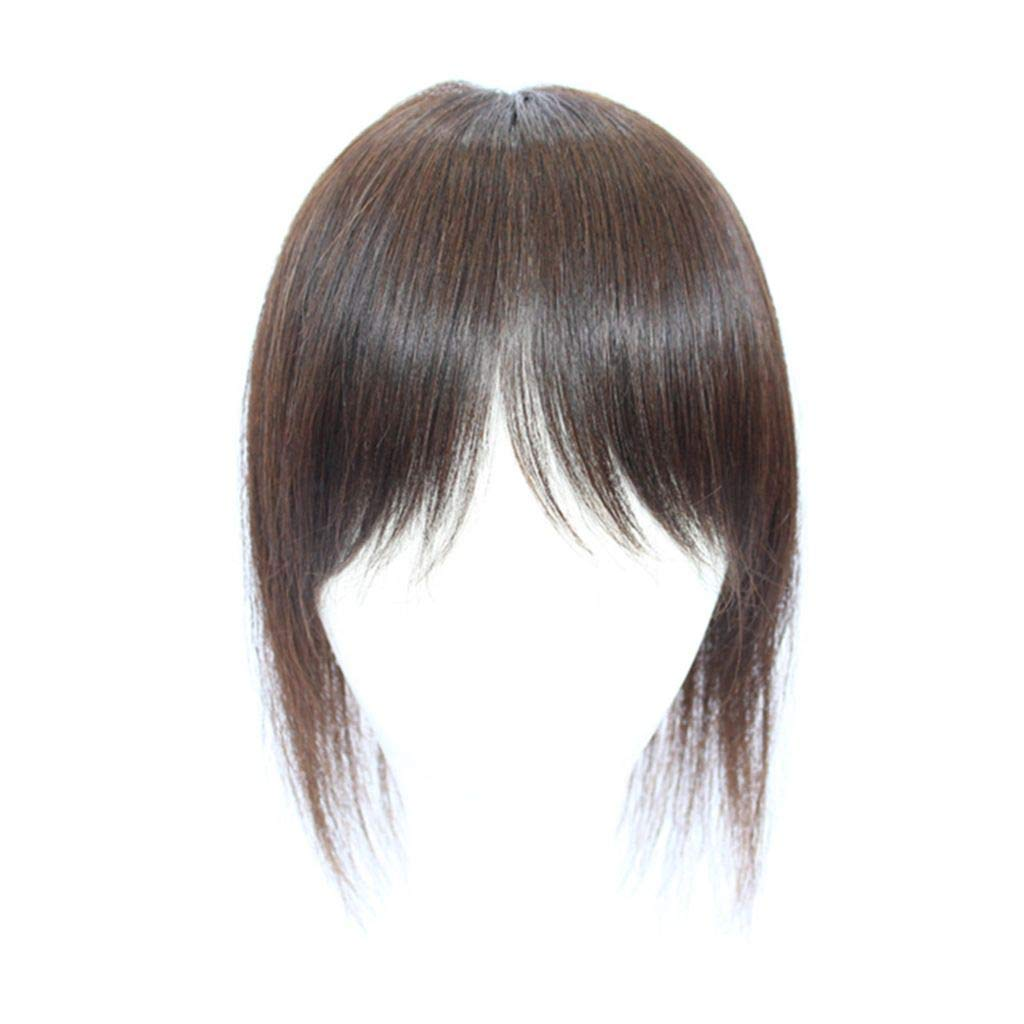 Clip on Mono Max 80% OFF Human Hair Bangs Topper with Top Hairpiece Limited time sale
