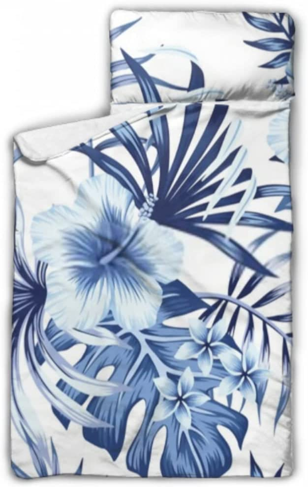 JIUCHUAN Bombing free shipping Kids Sleeping Bag Tropical New Orleans Mall Mat Floral Blue Vintage Nap