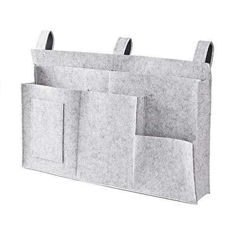 Ebeta filt säng väska säng organiserare våningssäng förvaringsväska för bok, tidskrift, mobiltelefon, hörlurar