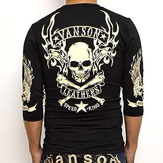 当店別注 バンソン VANSON ABV-802 ドライ6分 Tシャツ ブラック色 吸汗速乾 抗菌防臭 UVカット