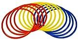 Precision Training Cerceaux d'agilité Rouge/Jaune/Bleu 45 cm
