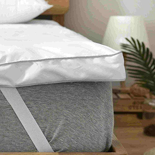 rejuvopedic Small Double (4FT) Bed Bounce Back Mattress Topper, Protector, Pad
